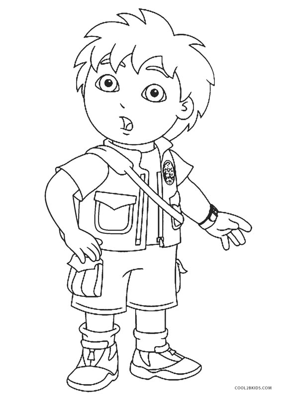 coloring pages diego - photo#44
