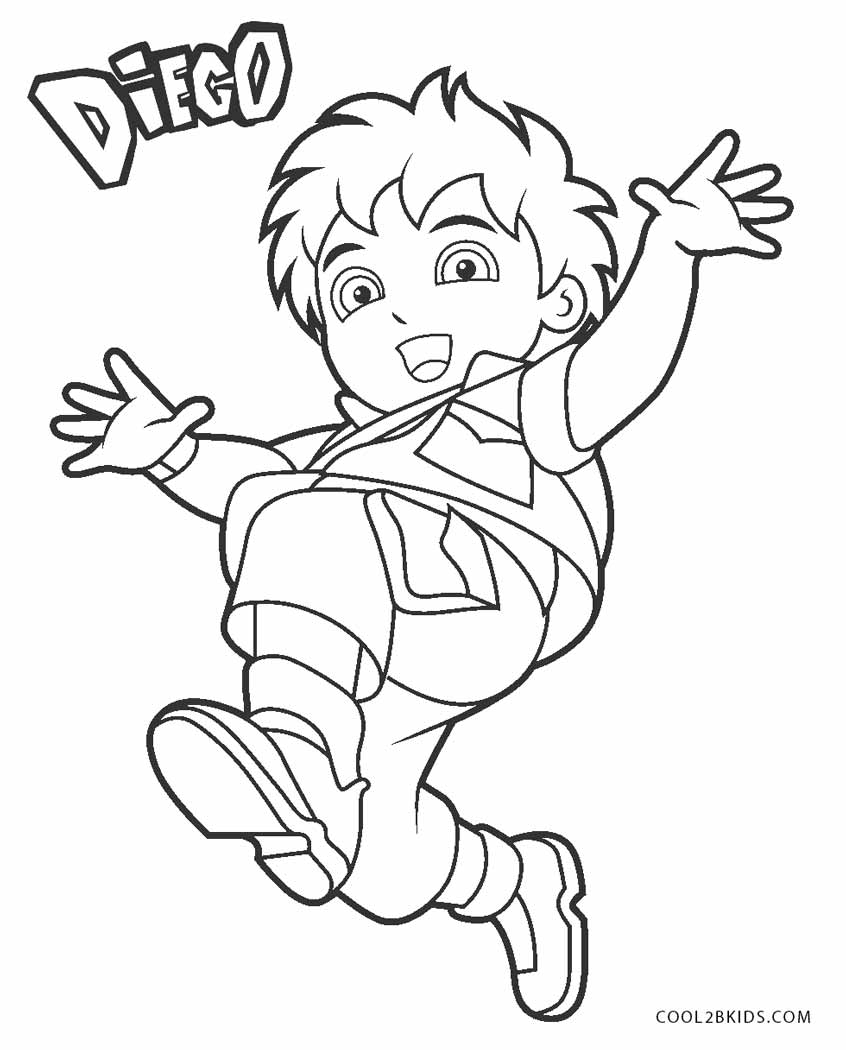free coloring pages diego | Free Printable Diego Coloring Pages For Kids | Cool2bKids