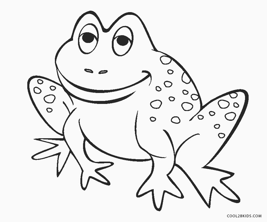 free baby frog coloring pages - photo#23