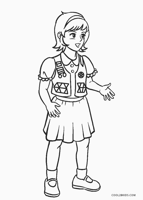Free Printable Girl Scout Coloring Pages For Kids Cool2bKids