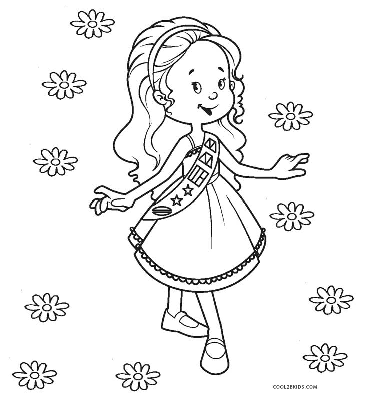 Free Printable Girl Scout Coloring Pages For Kids