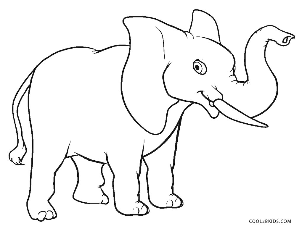 This is an image of Irresistible Elephant Coloring Pages Printable