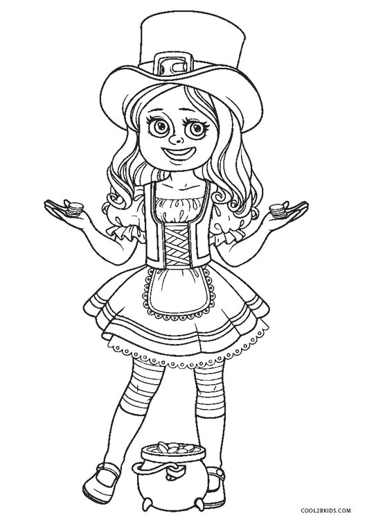 Free Printable Leprechaun Coloring Pages For Kids | Cool2bKids