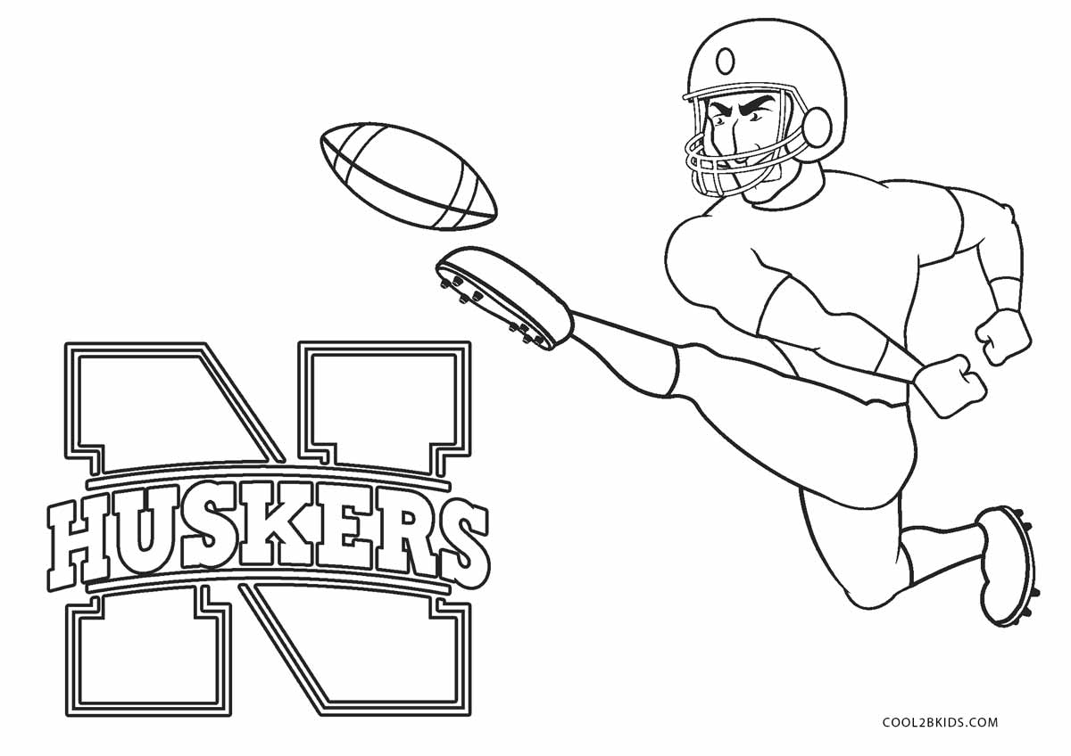 husker football players free coloring pages. Black Bedroom Furniture Sets. Home Design Ideas