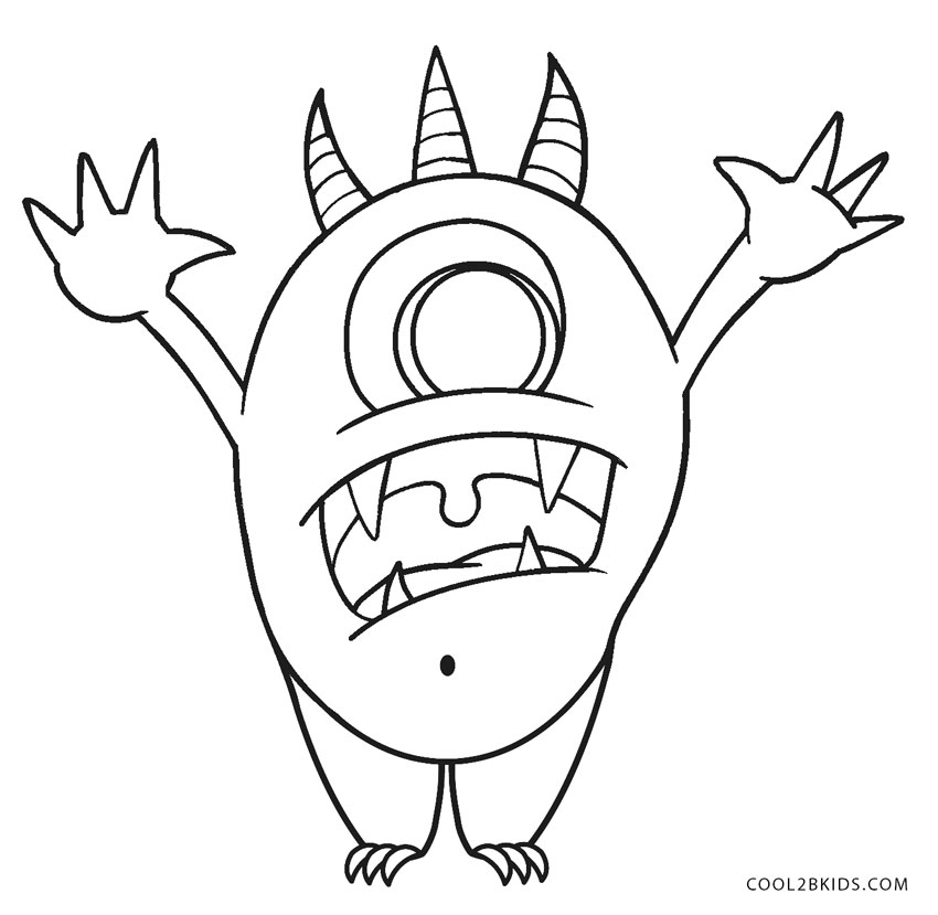 Free Printable Monster Coloring Pages For Kids