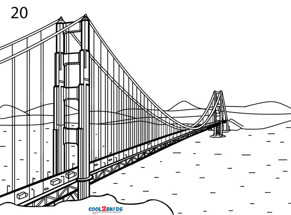 Golden Gate Bridge Drawing Step By Step Pictures