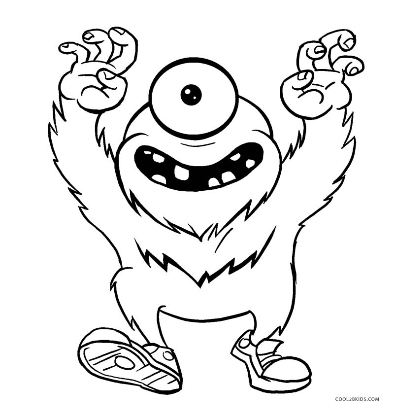 Free Printable Monster Coloring Pages For Kids Cool2bkids