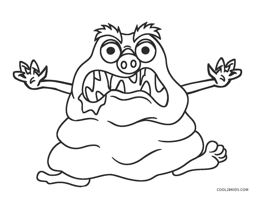 photograph about Monster Coloring Pages Printable identified as Free of charge Printable Monster Coloring Web pages For Young children Neat2bKids