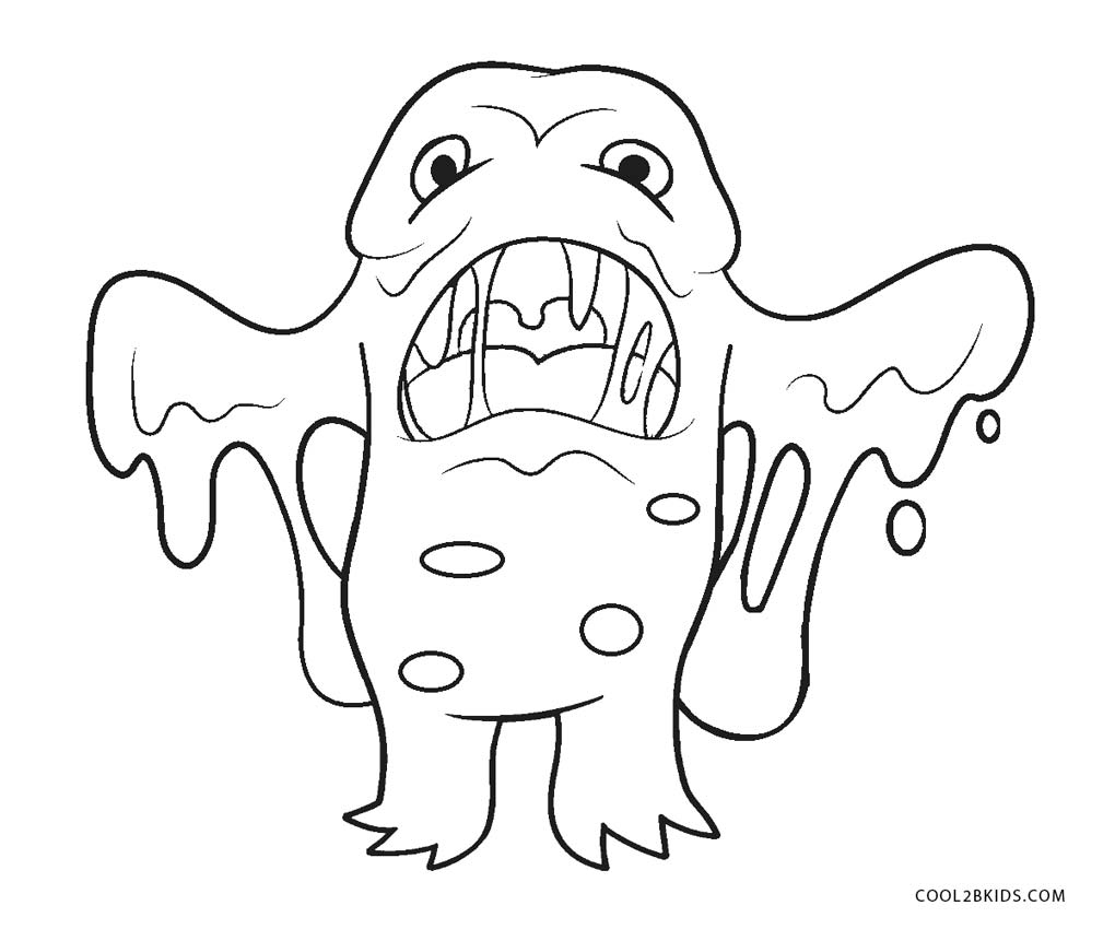 It's just a graphic of Juicy Monster Coloring Pages for Kids