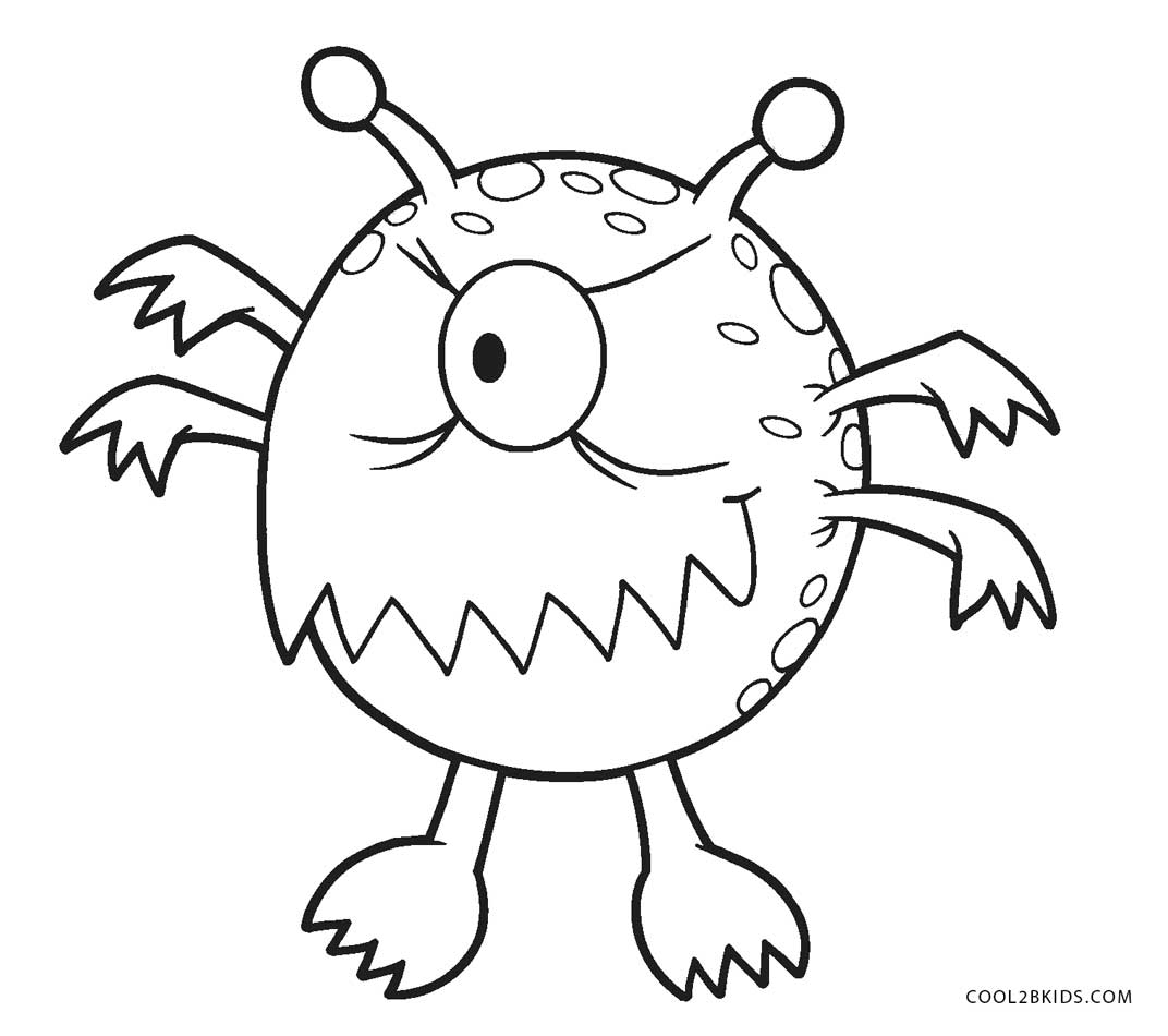 This is a picture of Punchy Monster Pictures to Color