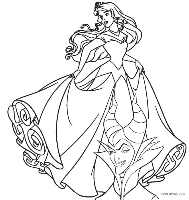 Sleeping Beauty Coloring Pages | 360ColoringPages | 700x660