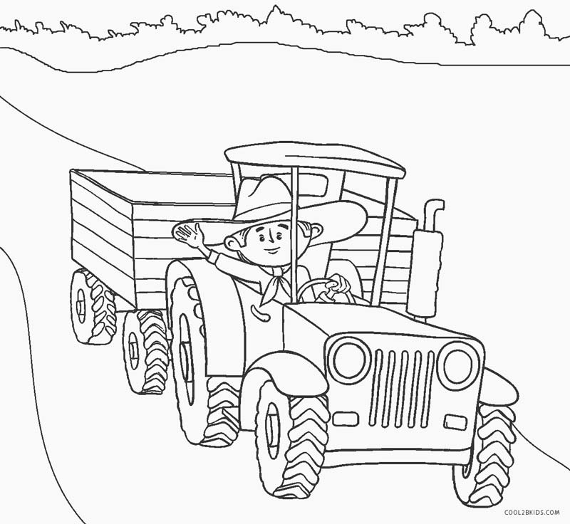 tractors coloring pages to print - photo#23
