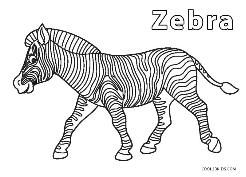 Free Printable Zebra Coloring Pages For Kids | Cool2bKids