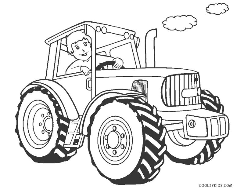 tractors coloring pages to print - photo#17