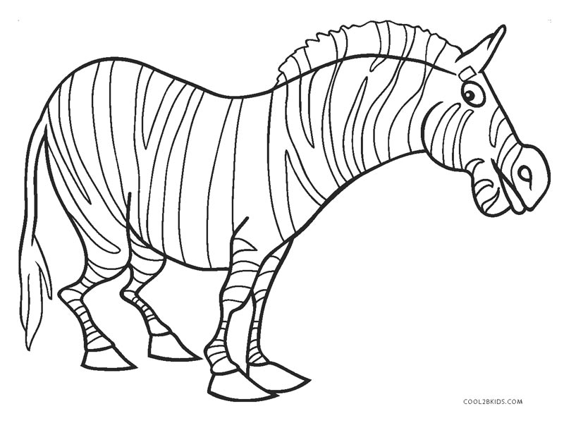 photograph relating to Zebra Printable called Absolutely free Printable Zebra Coloring Webpages For Little ones Great2bKids