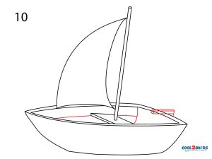 How to Draw a Boat Step 10