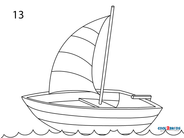 How To Draw A Boat Step By Step Pictures Cool2bkids