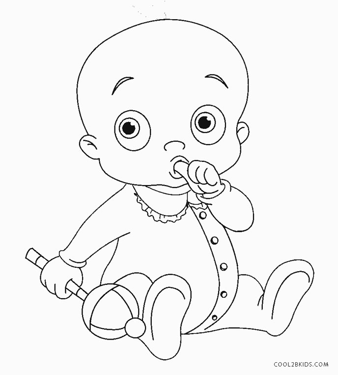 printable baby rattle coloring pages | Free Printable Baby Coloring Pages For Kids | Cool2bKids