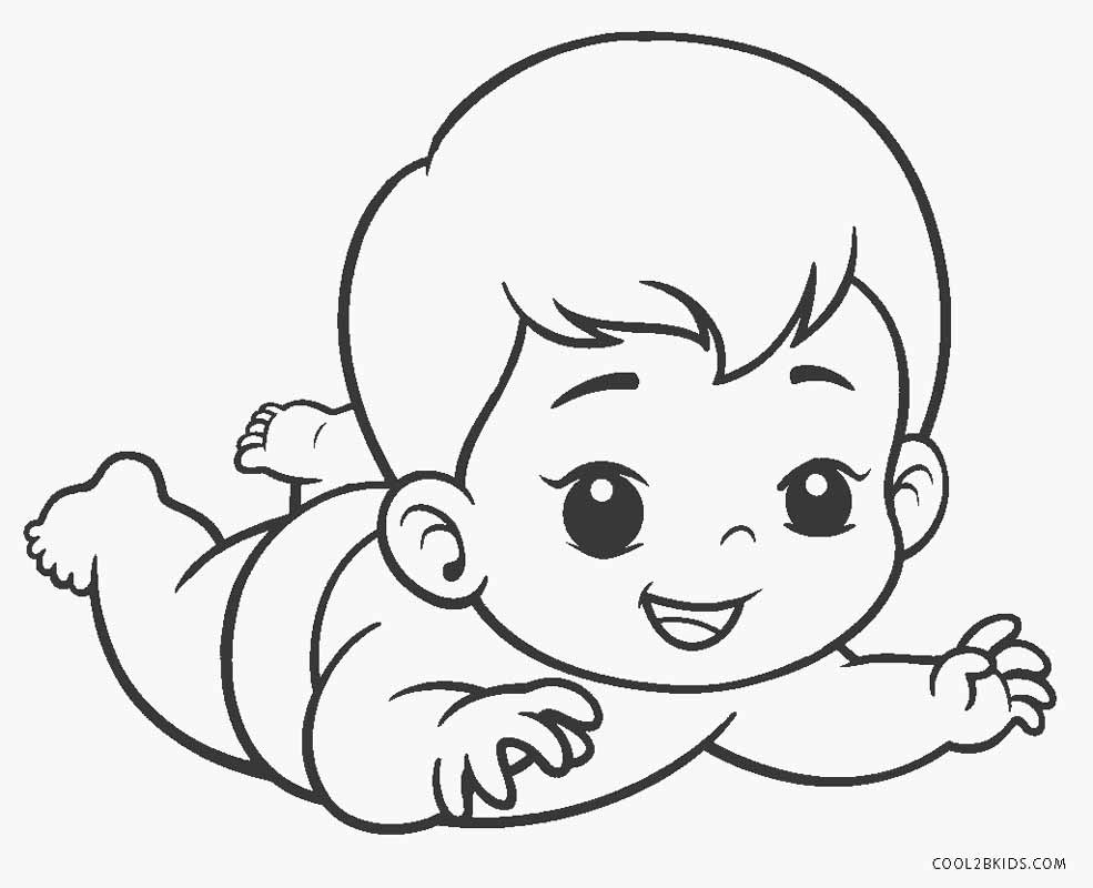 Free Printable Baby Coloring Pages For Kids | Cool2bKids