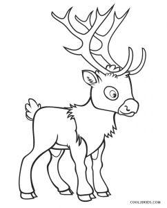 Flying Reindeer Coloring Page
