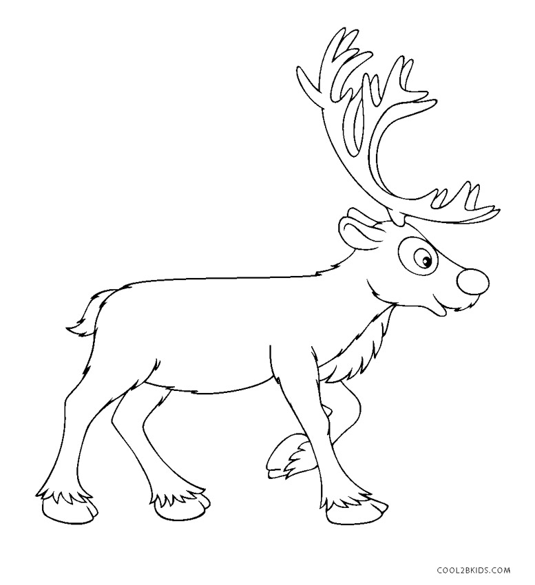 Free Printable Reindeer Coloring Pages For Kids | Cool2bKids
