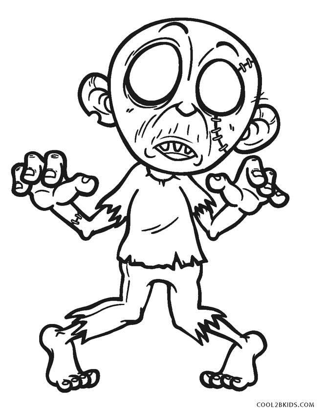 zombie coloring pages for kids | Free Printable Zombie Coloring Pages For Kids | Cool2bKids