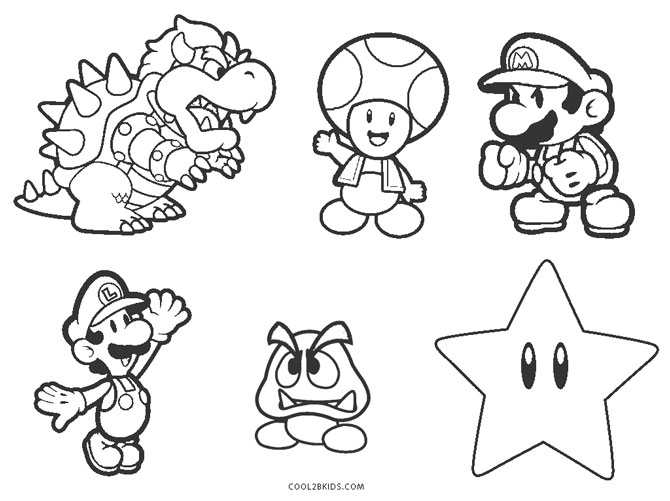 27+ Elegant Photo of Super Mario Bros Coloring Pages | Super mario ... | 501x670