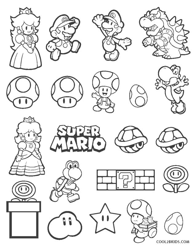 Mario Brothers Coloring Pages For Kids