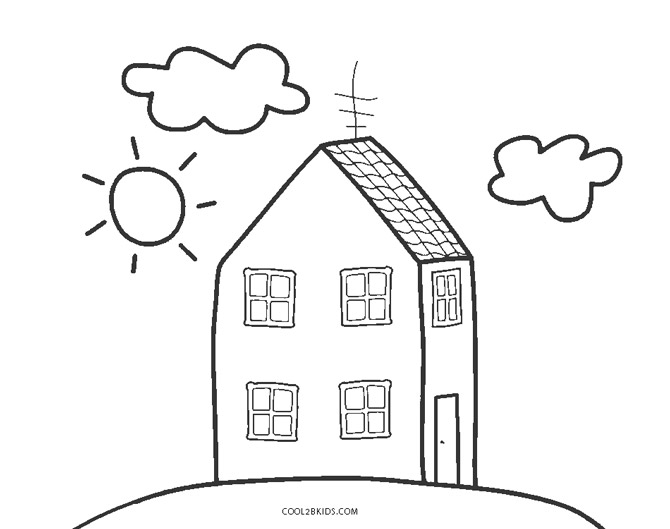White House Coloring Page - Coloring Home | 529x670