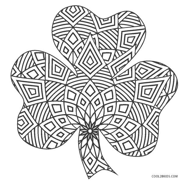 Free Printable Shamrock Coloring Pages For Kids | Cool2bKids