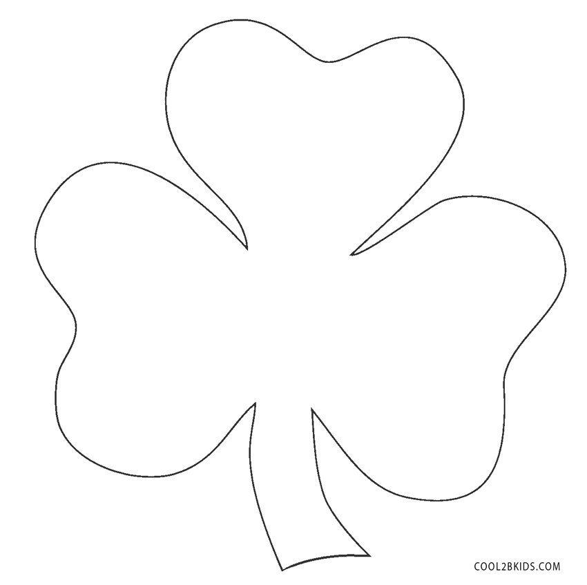 Free Printable Shamrock Coloring Pages For Kids | 847x850