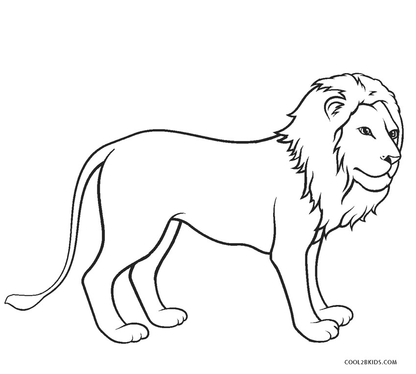 free coloring pages of lions - photo#27