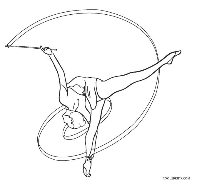 Free Printable Gymnastics Coloring