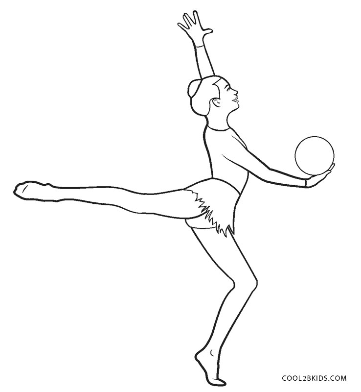 Coloring Pages | Rhythm Gymnastics Coloring Pages | 800x738