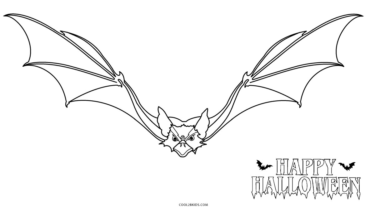 Free Printable Bat Coloring Pages For Kids | Cool2bKids