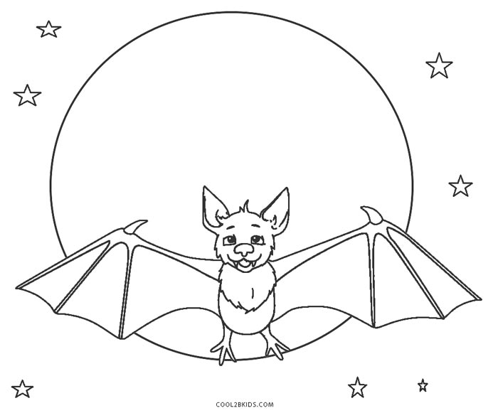 Free Printable Bat Coloring Pages