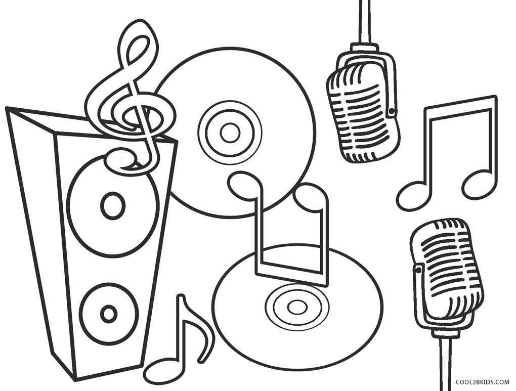 It is an image of Clever Free Printable Music Coloring Pages