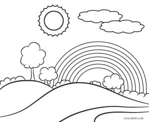 children coloring pages to print and color | Free Printable Rainbow Coloring Pages For Kids | Cool2bKids