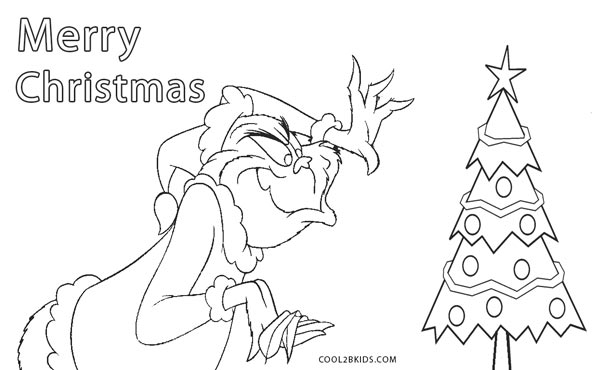 Free Printable Grinch Coloring Pages For Kids Cool2bkids