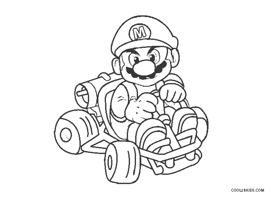 Free Printable Mario Kart Coloring Pages For Kids
