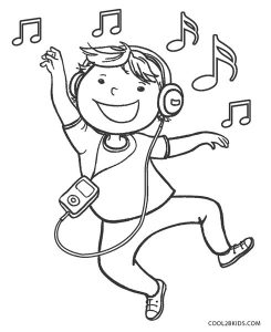 Free Printable Music Coloring Pages For Kids