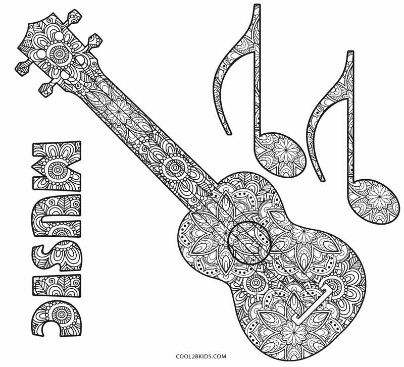 Music Instruments Coloring Pages - Get Coloring Pages | 727x800