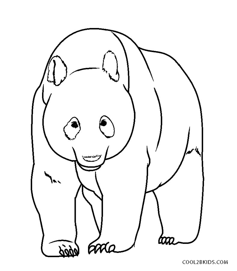 Free Printable Panda Coloring Pages