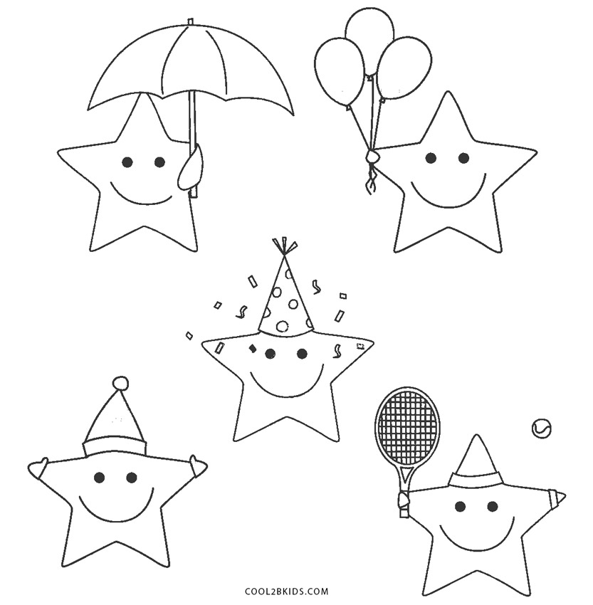 star coloring pages for toddlers - photo#25