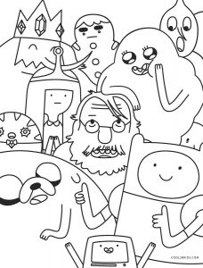 adventure time coloring pages 2015 | Free Printable Adventure Time Coloring Pages For Kids ...