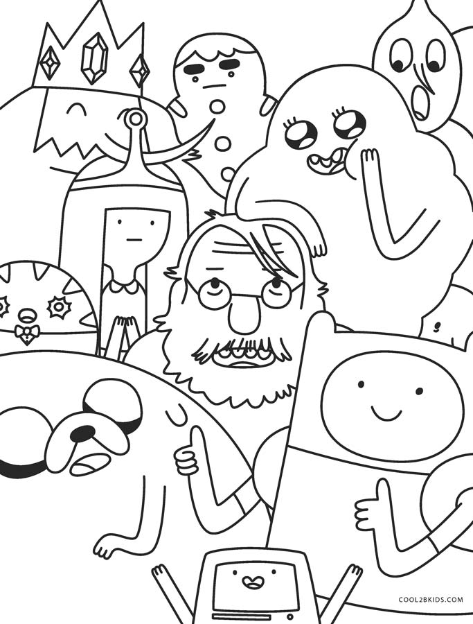 Free Printable Adventure Time Coloring