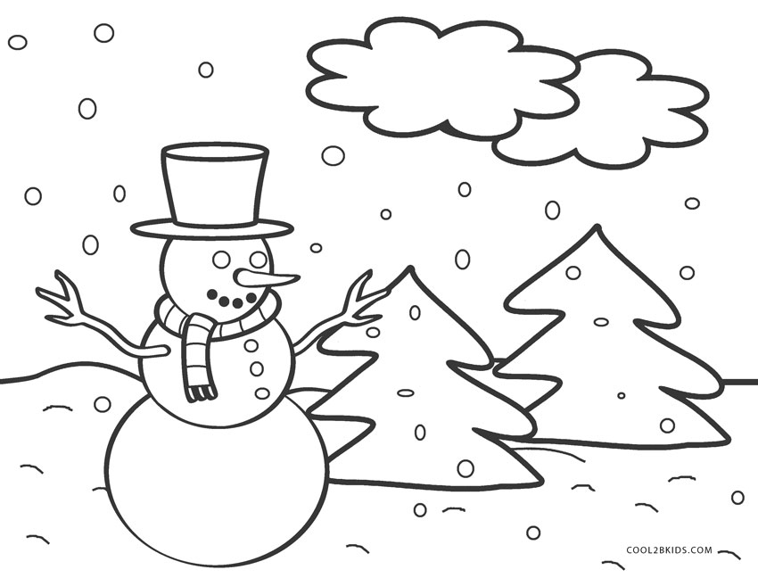 Free Printable Snowman Coloring Pages For Kids | Cool2bKids