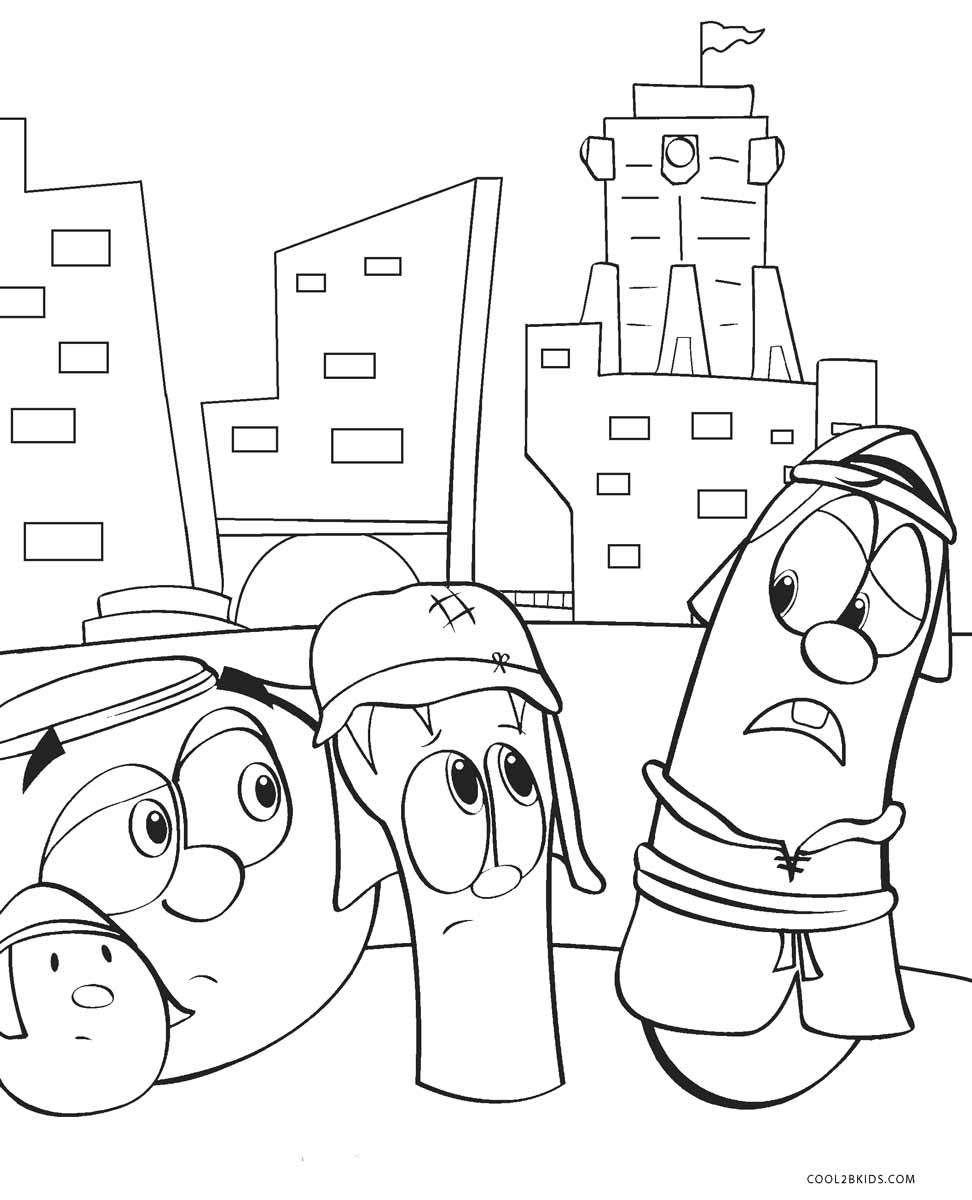 Veggie Tales Coloring Pages | 1200x972