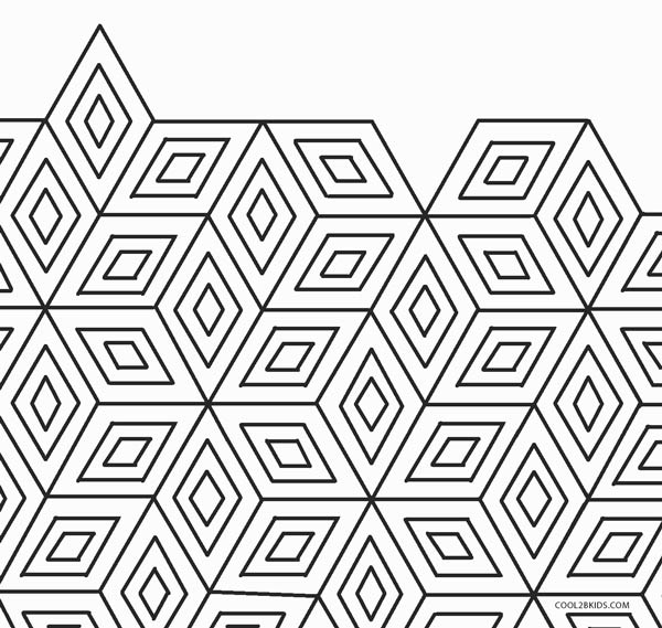 Free Printable Coloring Pages For Adults! Geometric Patterns ... | 569x600