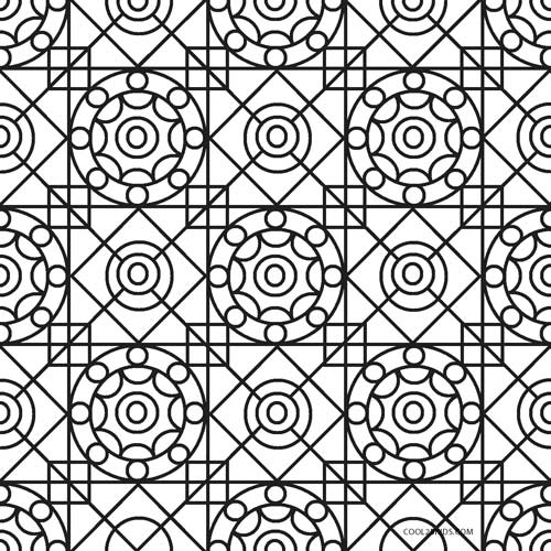 Free Simple Geometric Coloring Pages, Download Free Clip Art, Free ... | 500x500